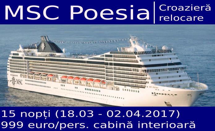 MSC Poesia pe mare
